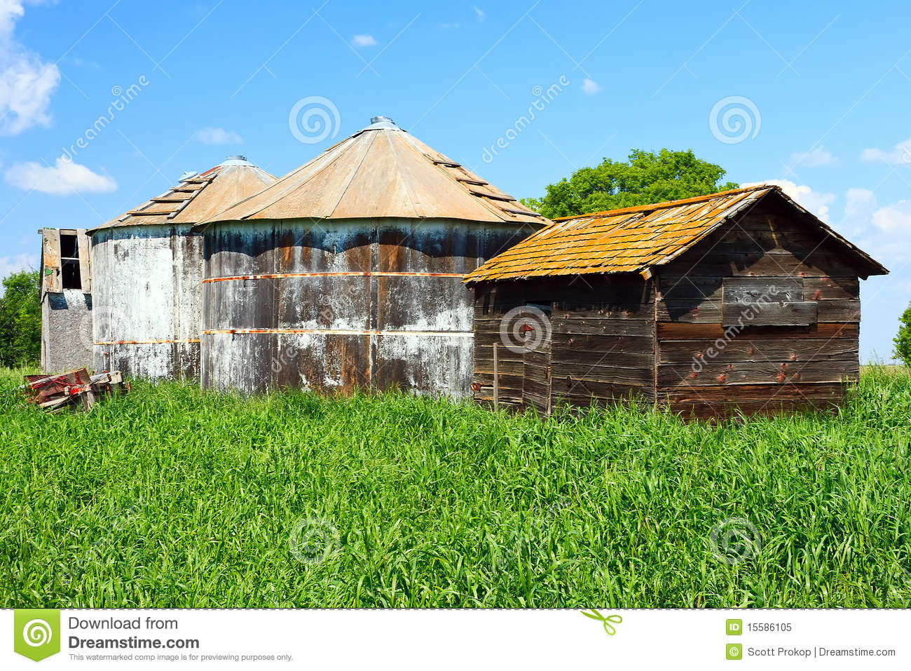 Old Farm Buildings Stock Image Image Of Deserted Farm 15586105