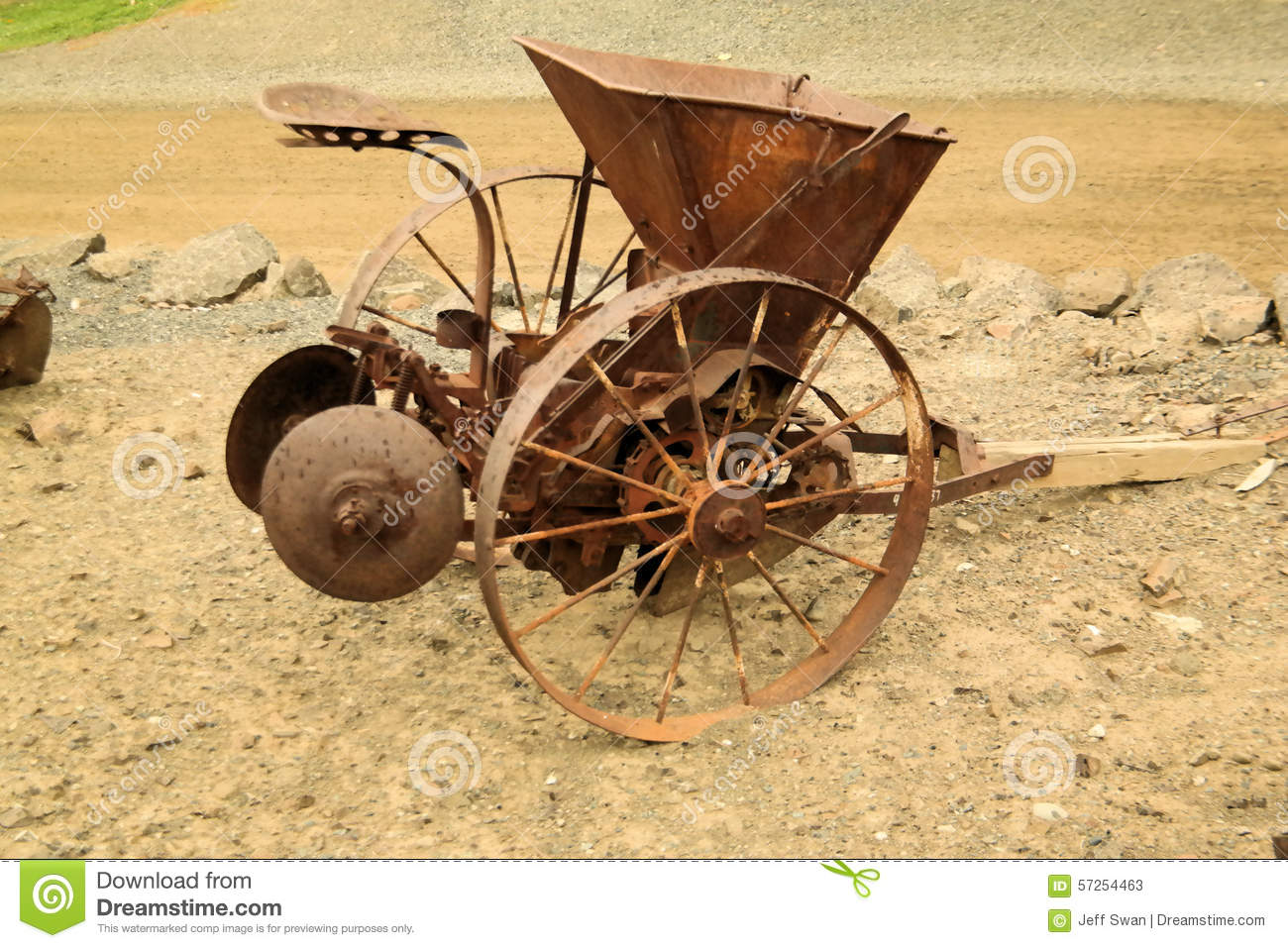 Farm Implement Pieces : Old farm equipment stock image of tools steel
