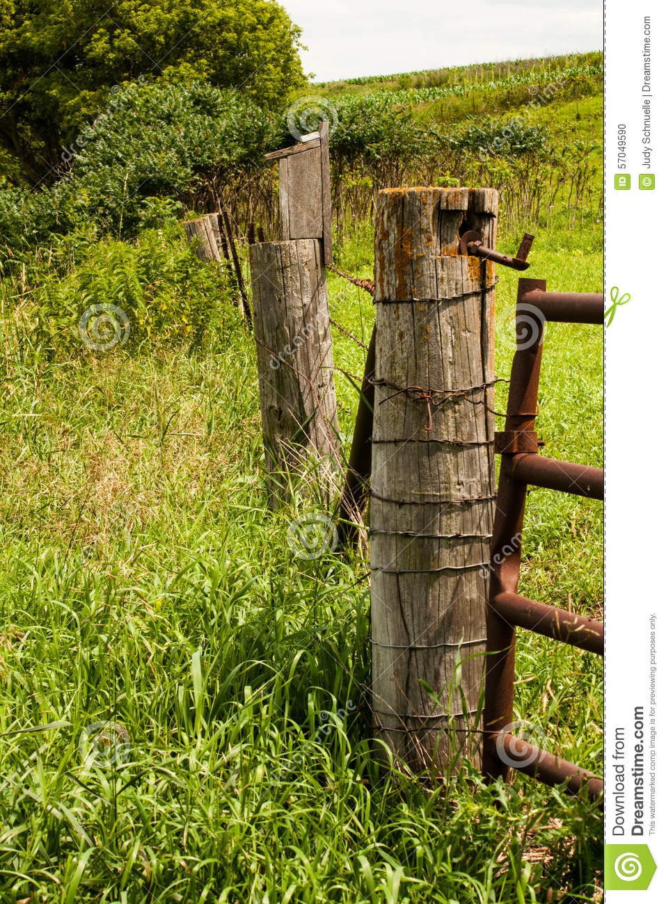 wire farm fence gate. Royalty-Free Stock Photo Wire Farm Fence Gate
