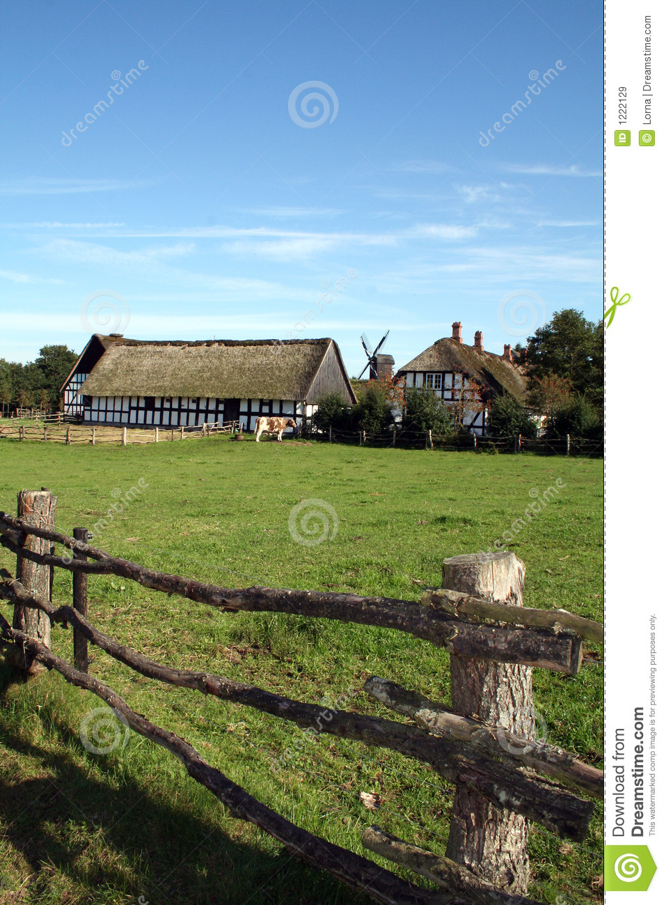 Farm house, traditional farm in black and white tudor style with old ...Western Desert Clipart