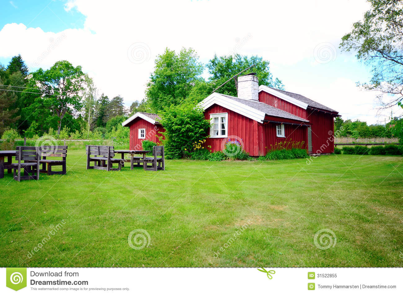 Old Farm House In Sweden Royalty Free Stock Image