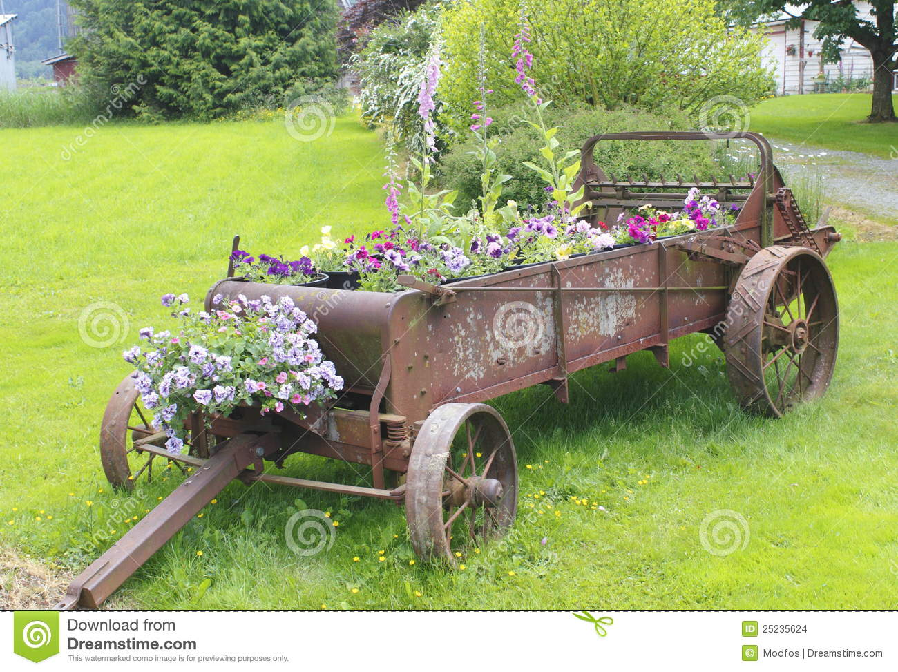 Old Farm Implement Planter Stock Images Image 25235624
