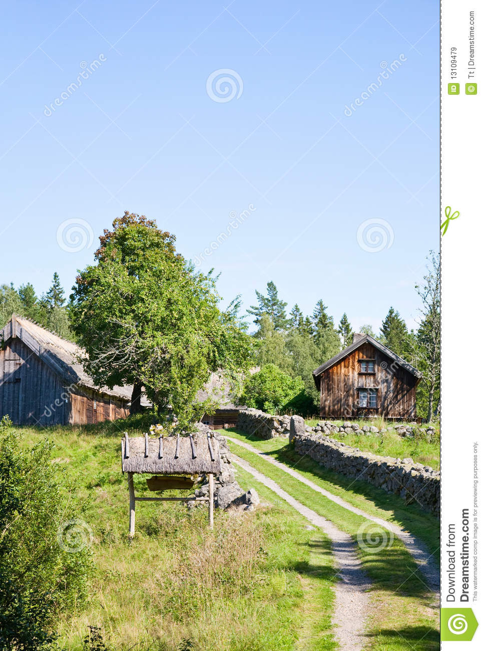 Landscaping Around An Old Farmhouse : Old farm landscape royalty free stock images image