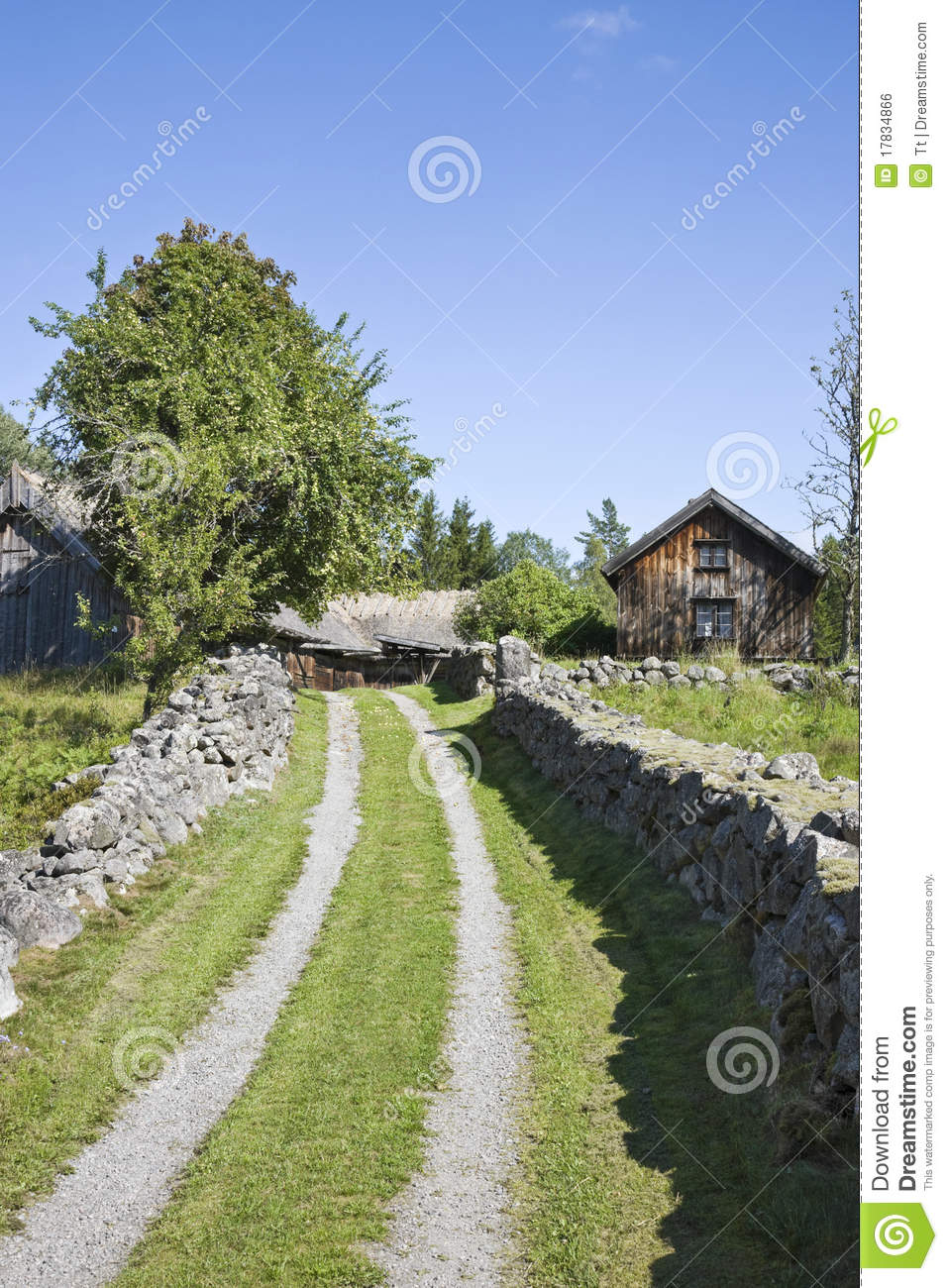 Landscaping Around An Old Farmhouse : Old farm landscape royalty free stock image