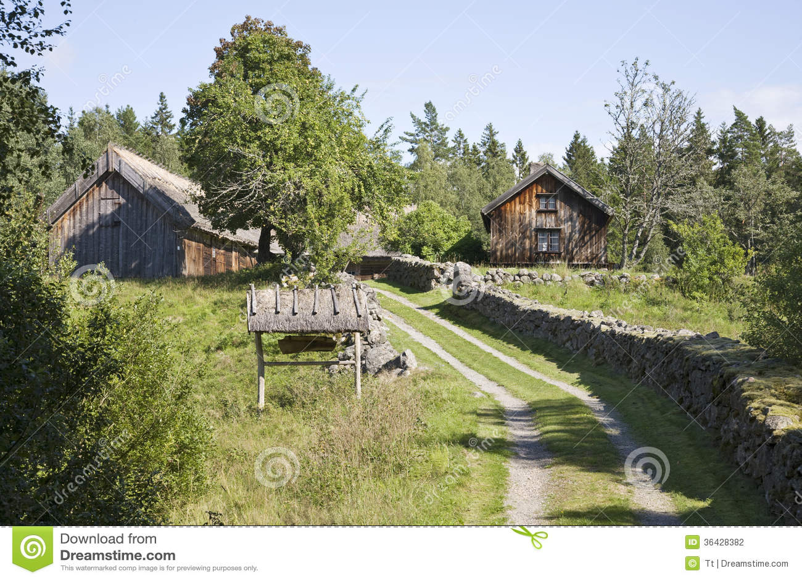 Old Farm Landscape Stock Photography Image 36428382