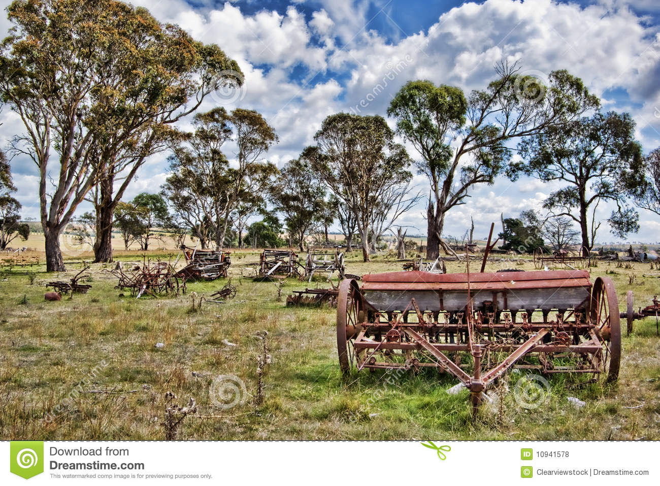 Download Old Farm Machinery In Field Stock Photo - Image of farm, neglected: 10941578