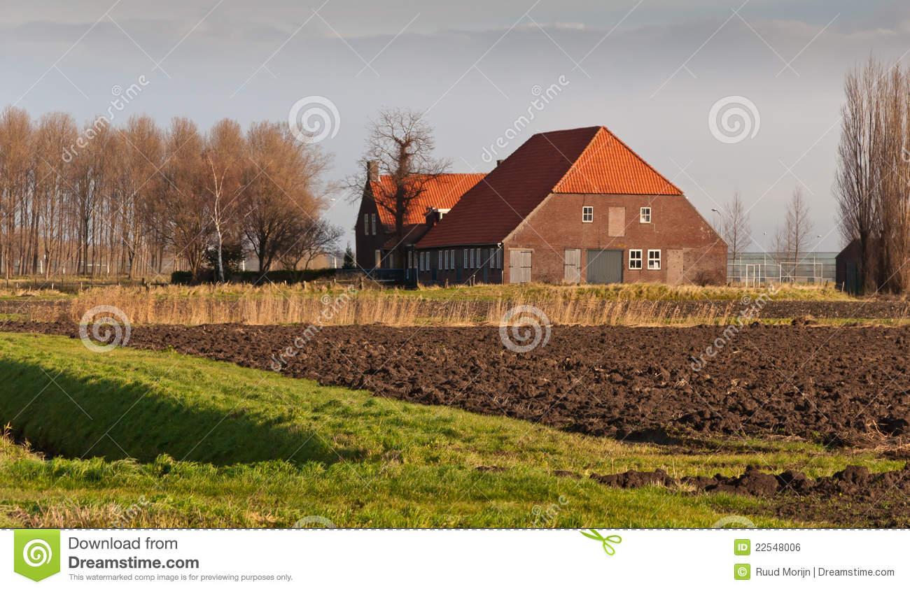 Old farm in the netherlands royalty free stock image Farm house netherlands