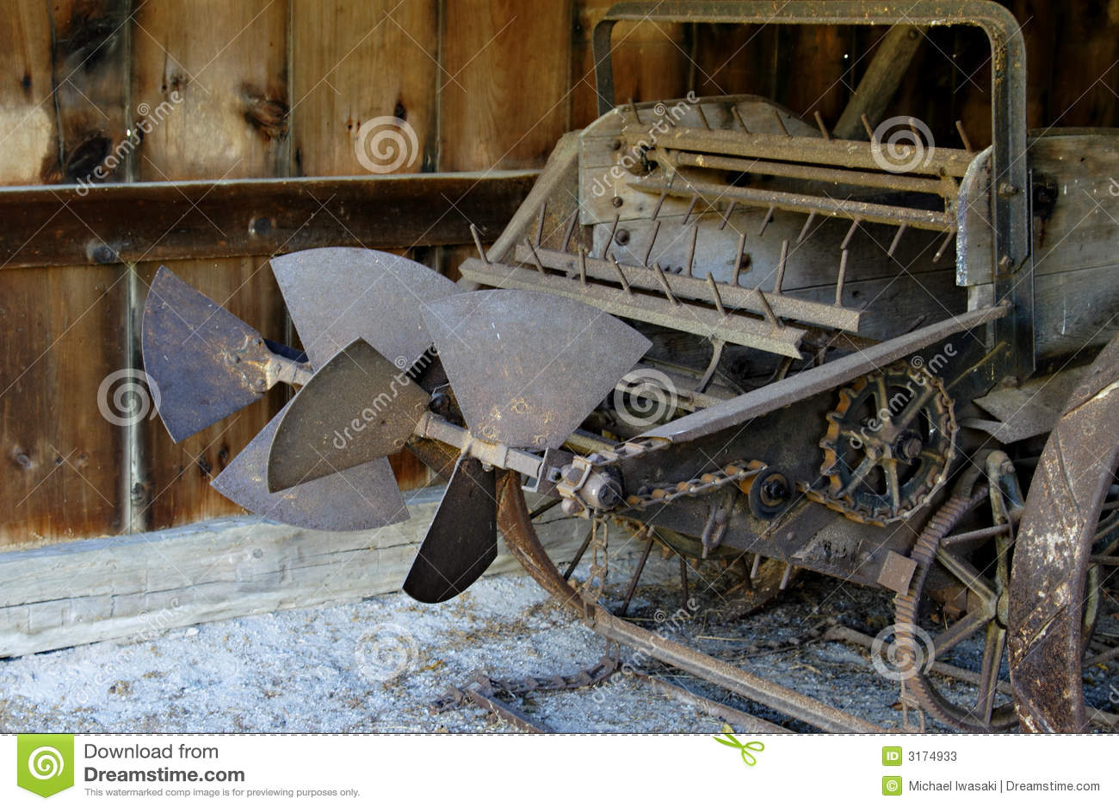 Old farm plough