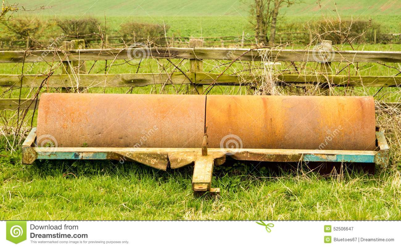 Old Farm Roller Stock Photo Image 52506647