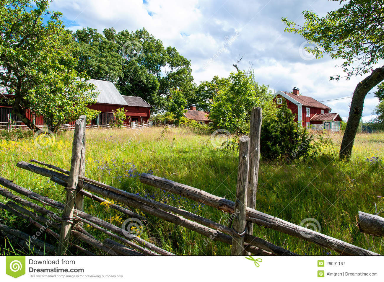 Old Farm In Sweden Royalty Free Stock graphy Image