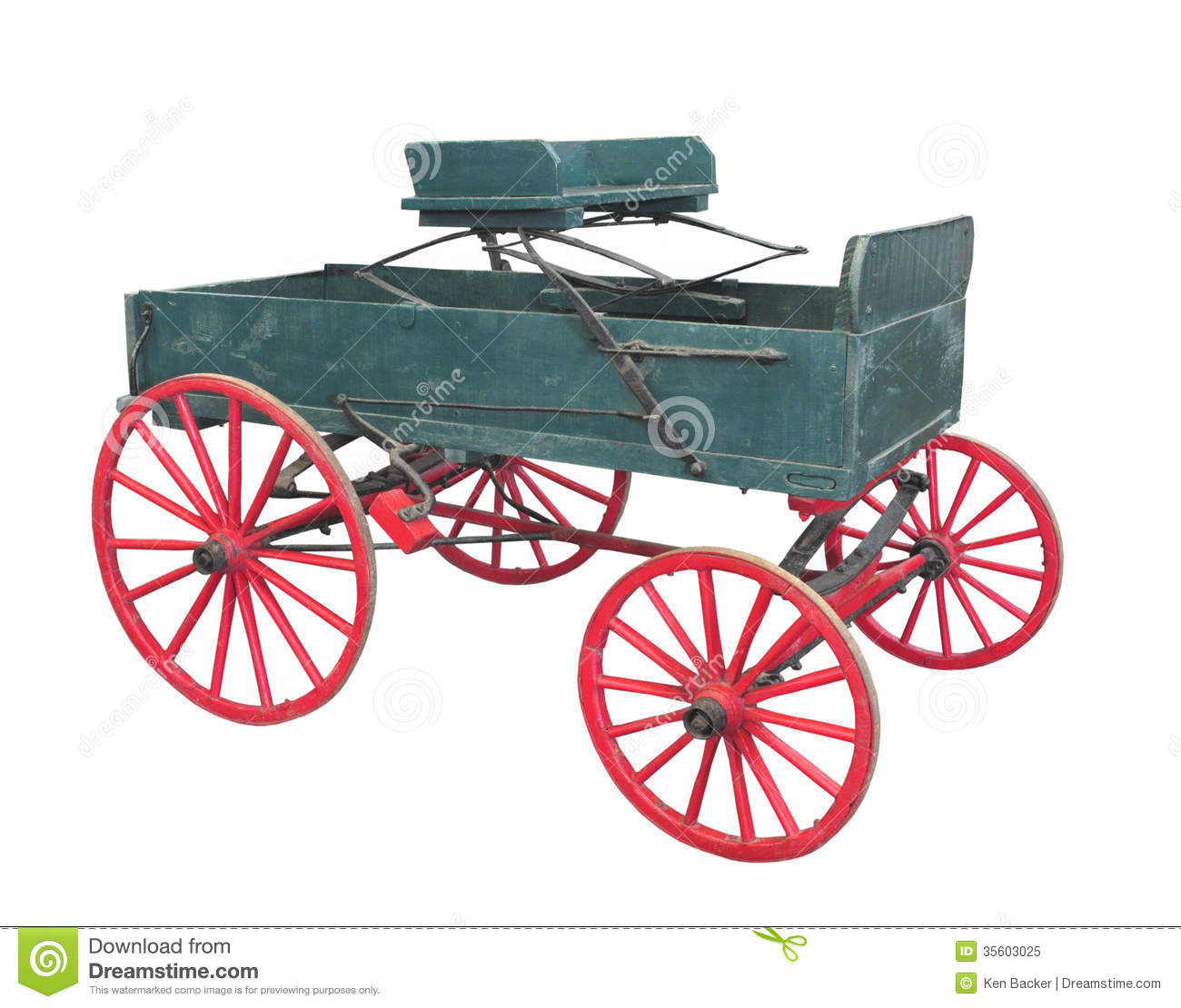 Download Old Farm Wagon Buckboard Isolated. Stock Image - Image of wooden, retro: 35603025