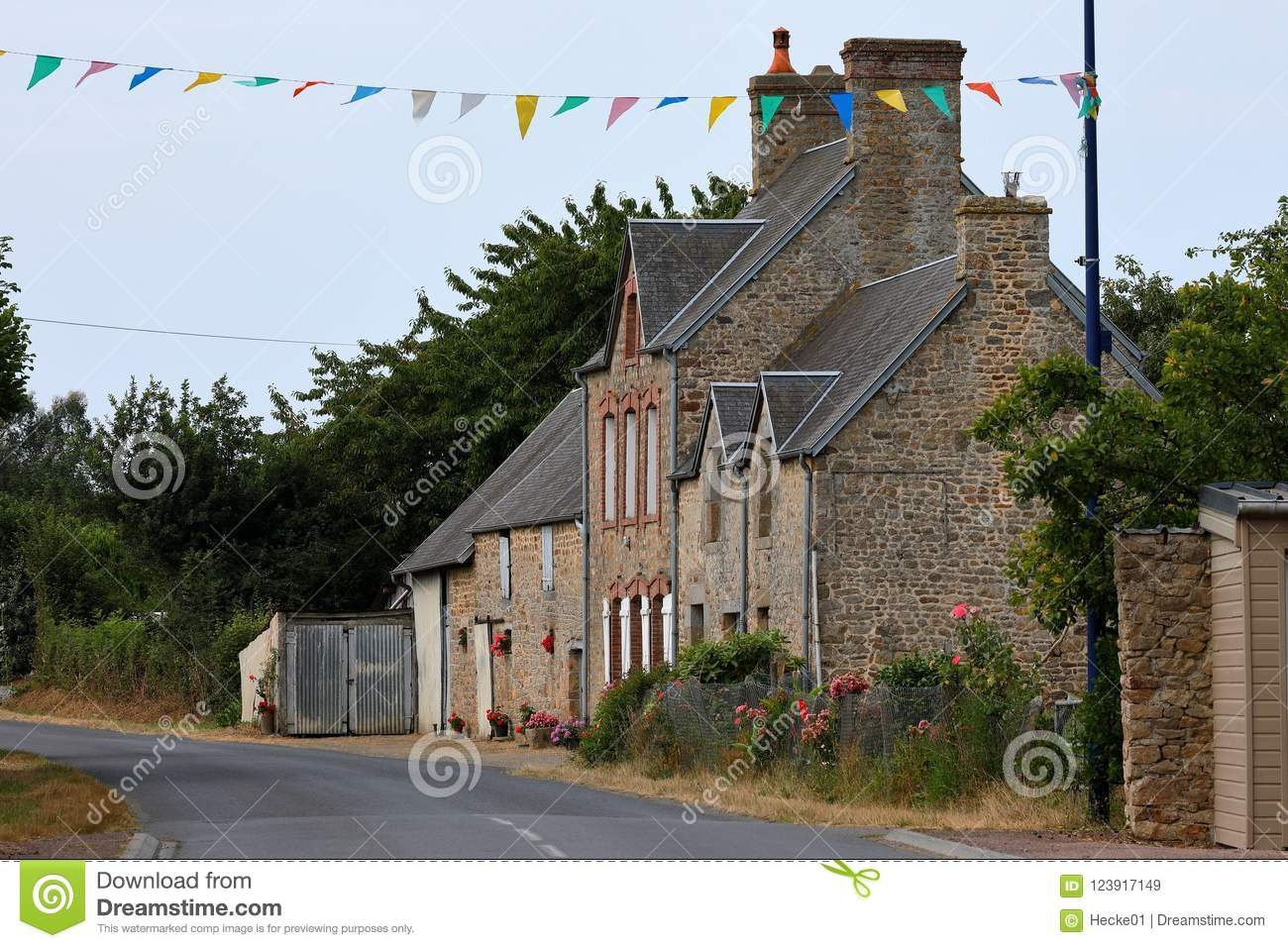 Old Farmhouse In Normandy Stock Image Image Of Farmhouse 123917149