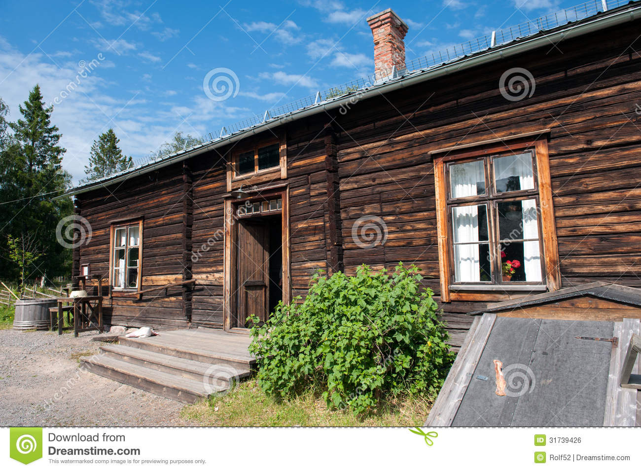 Old Farmhouse In Northern Sweden Editorial Image