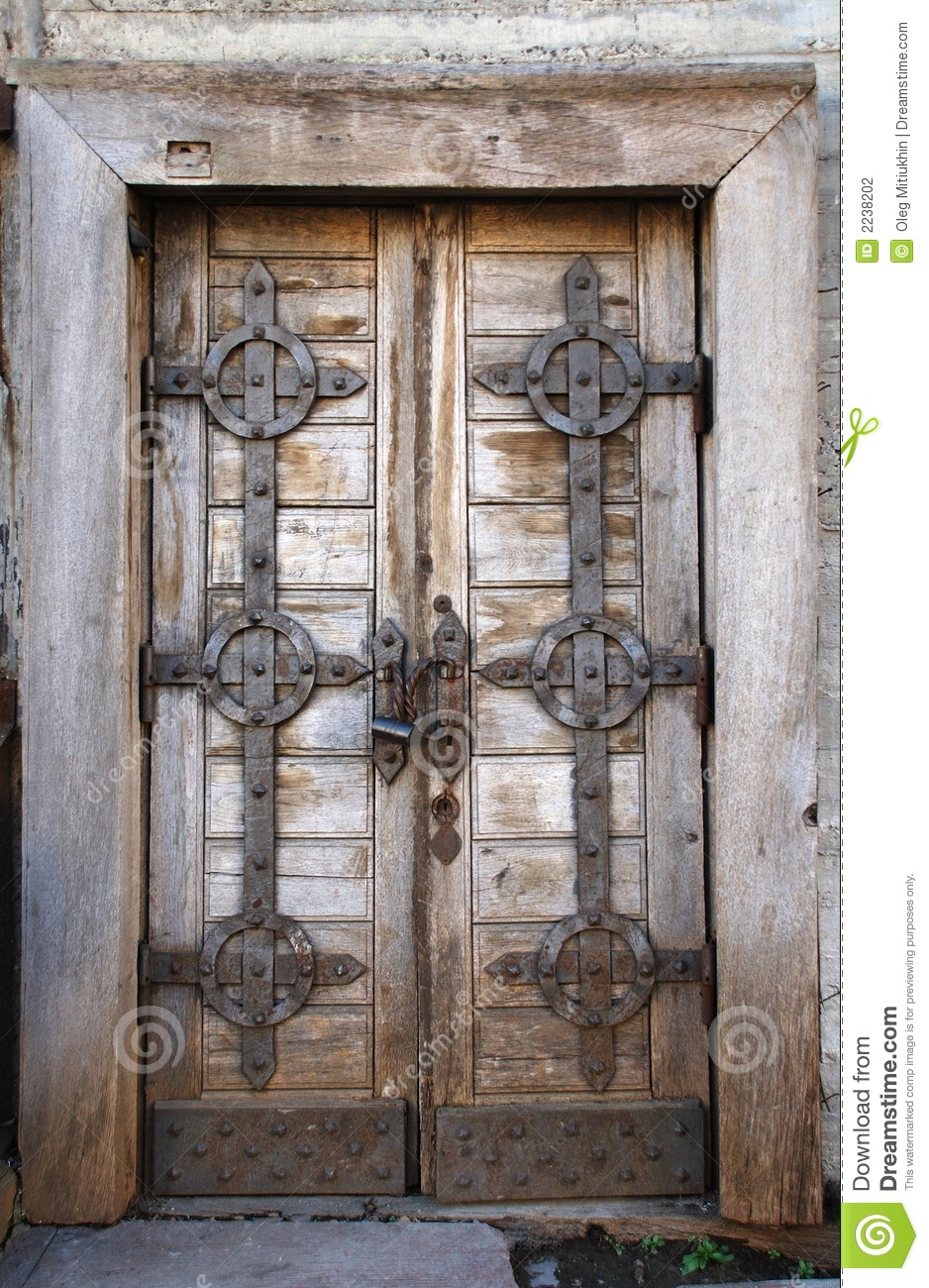 Old fashion door with lock stock photography image 2238202 - Old fashioned interior door locks ...