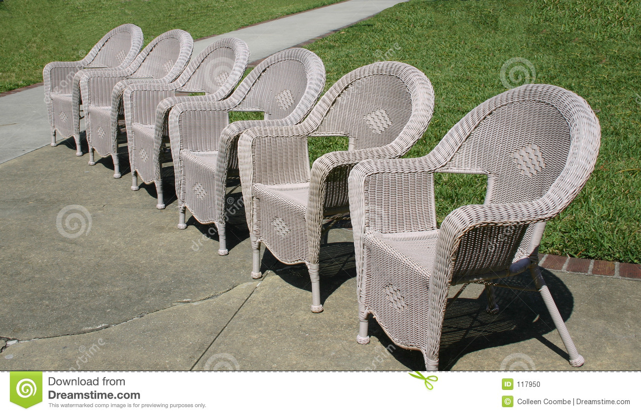 Old Fashion Wicker Chairs Stock Photo Image 117950