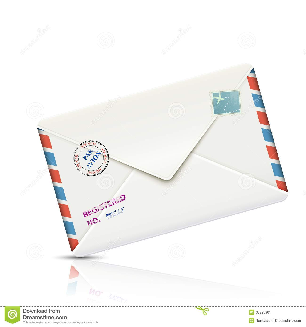 Old Fashioned Airmail Envelopes