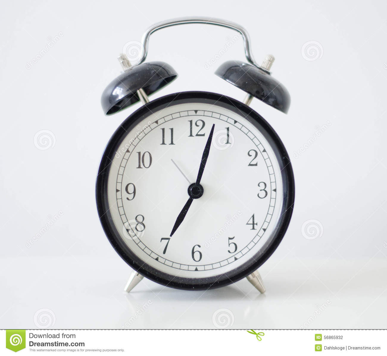 Delightful Old Fashioned Alarm Clock Stock Photography