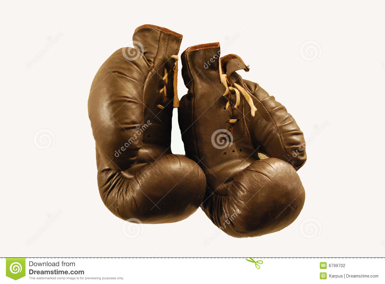 Old-fashioned Boxing Gloves Stock Photo - Image of activity, sport