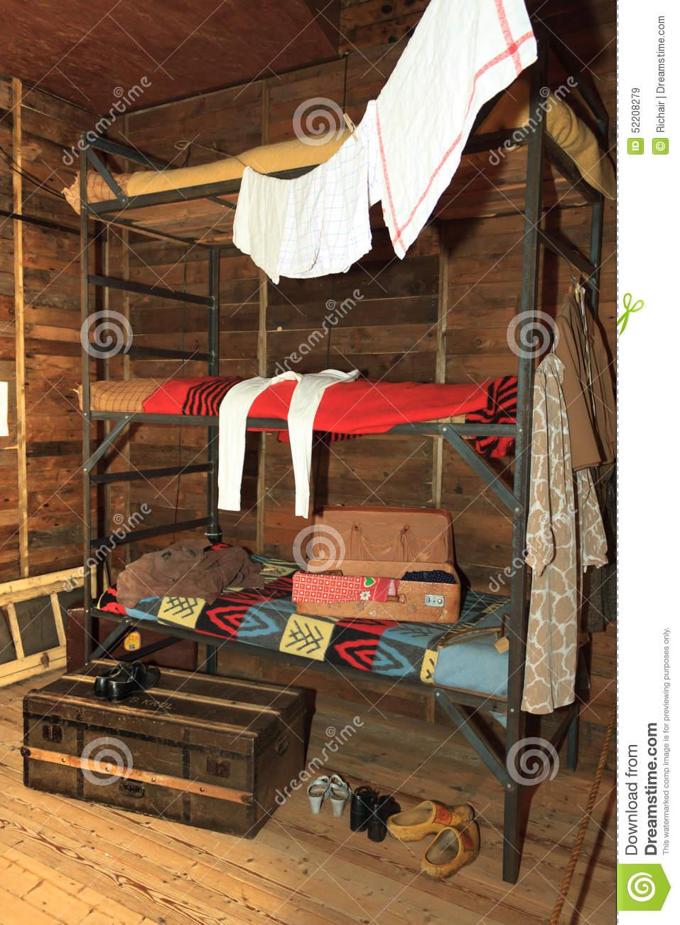 Old Fashioned Bunk Bed Stock Image Image Of Historical 52208279