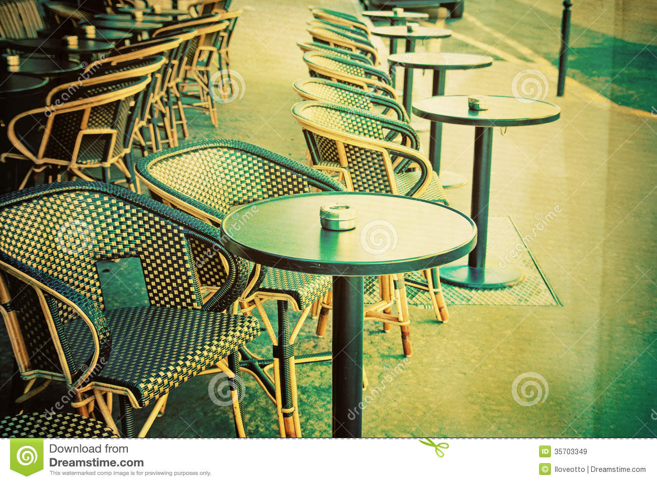 Old Fashioned Cafe Terrace Royalty Free Stock Images Image 35703349