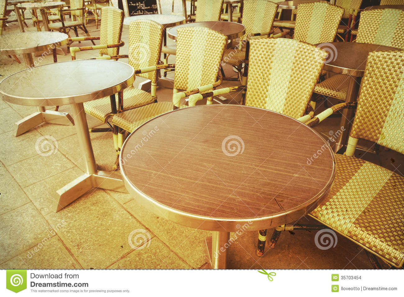 Old Fashioned Cafe Terrace Stock Images Image 35703454