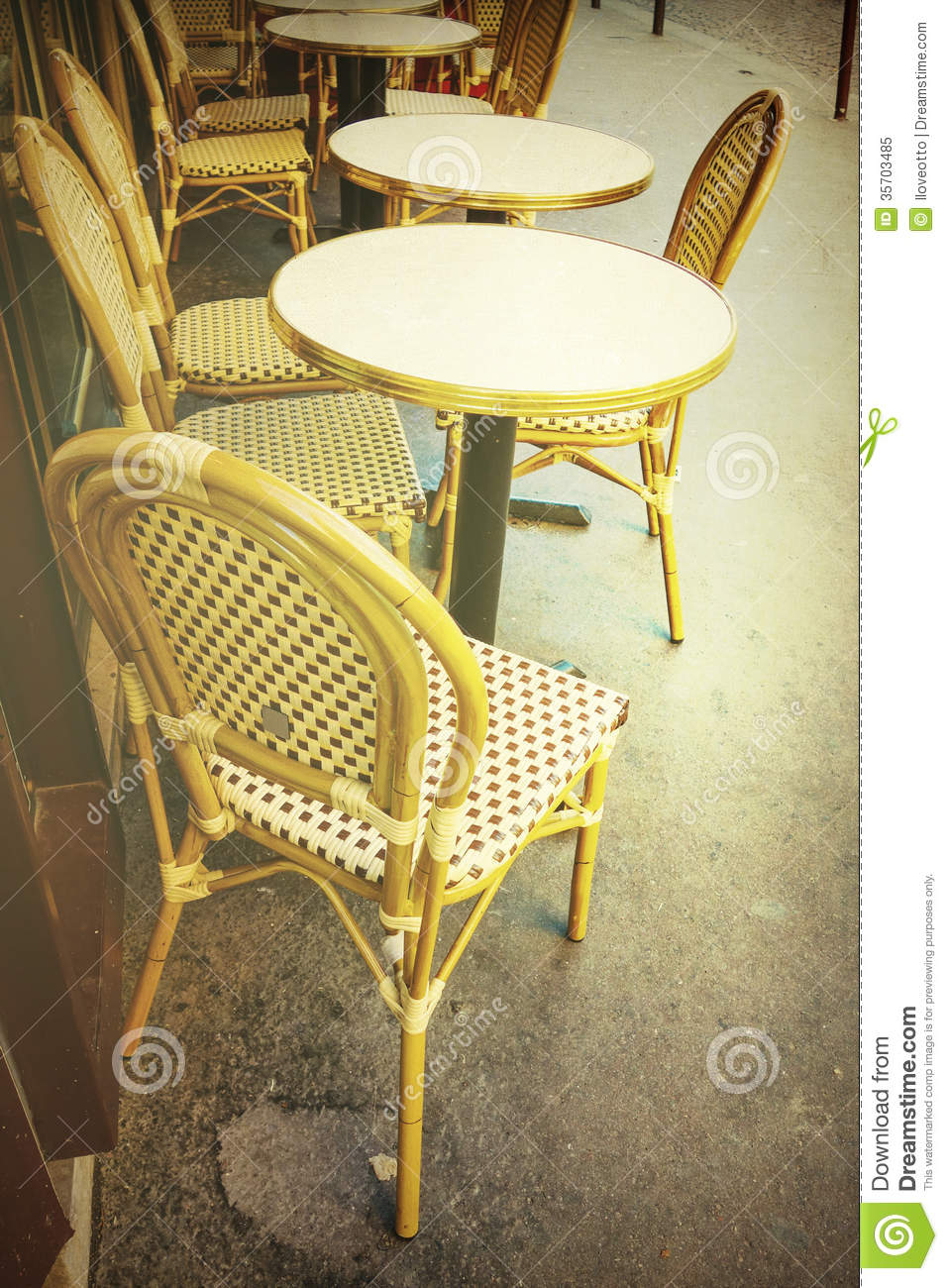 Old Fashioned Cafe Terrace Royalty Free Stock Photo Image 35703485
