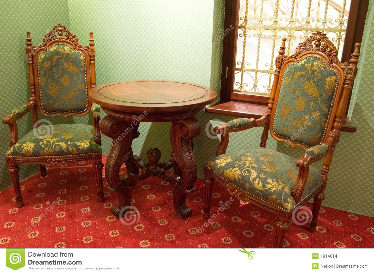 Old Fashioned Chairs Stock Images Image 1814614