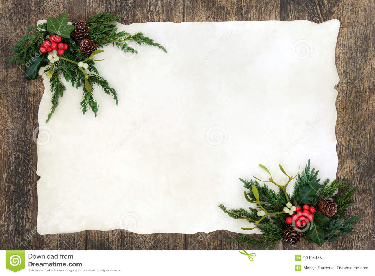 Old Fashioned Christmas Border Stock Image - Image of juniper ...
