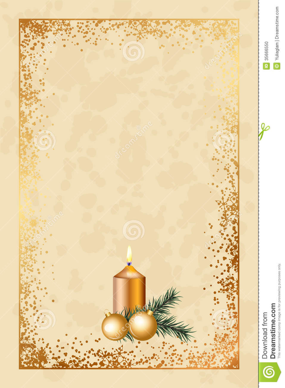 Old Fashioned Christmas Card Stock Vector - Illustration of candle ...
