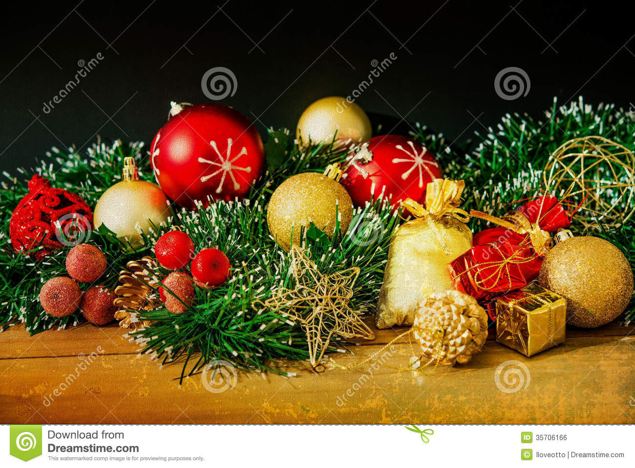Old Fashioned Christmas Decoration Stock Photo - Image of decor ...