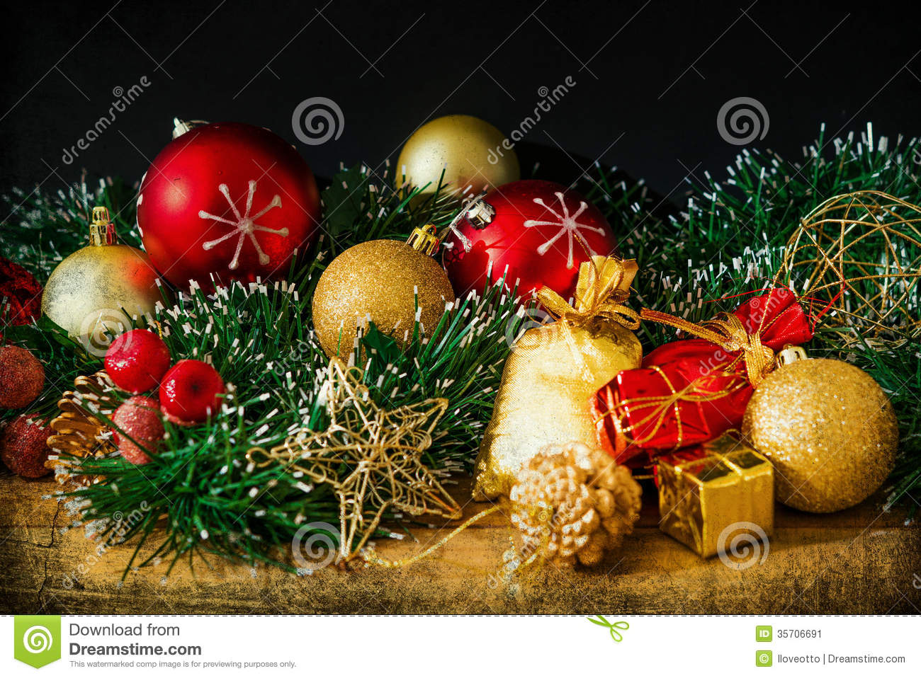 Old Fashioned Christmas Decoration Stock Image - Image of light ...
