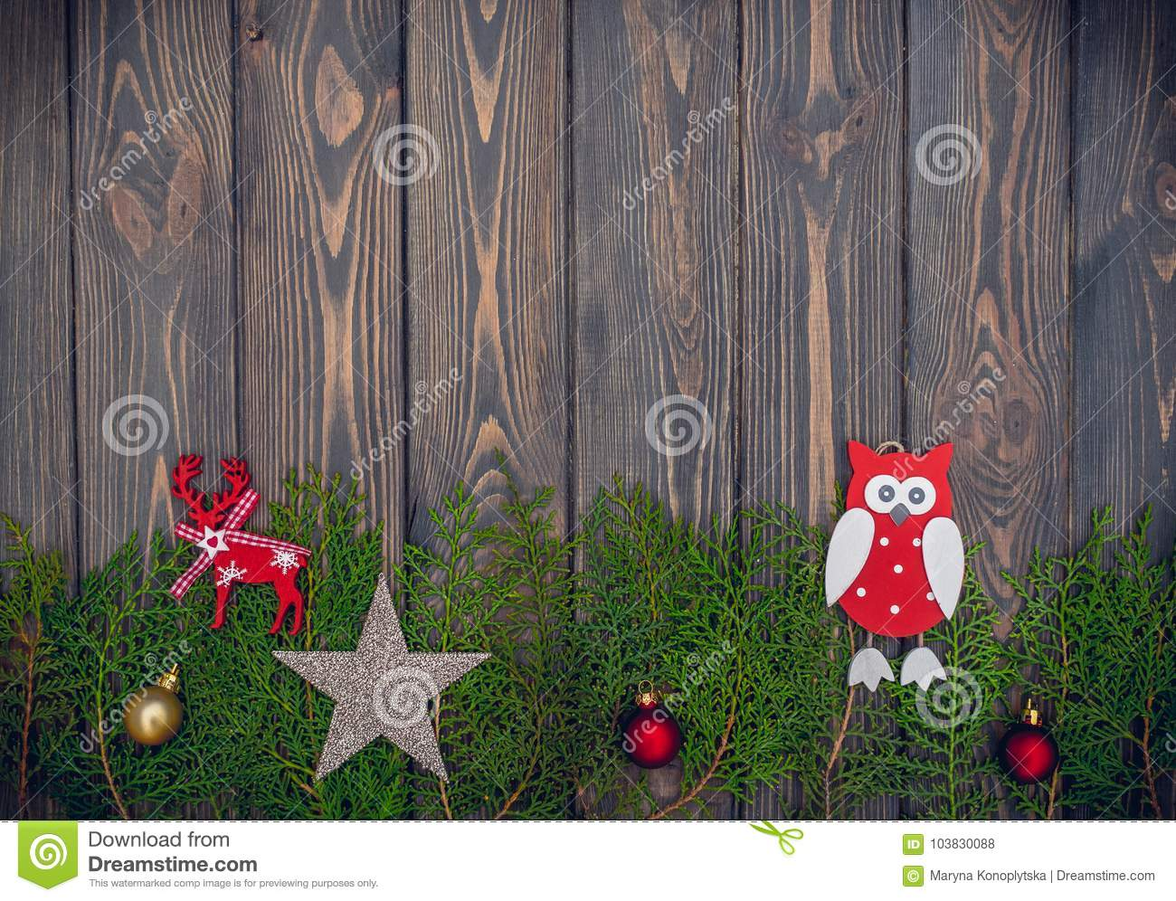 Old fashioned christmas tree toys and old wood background for a old fashioned christmas tree toys and old wood background for a new years greeting card royalty free stock photo download old fashioned christmas kristyandbryce Image collections
