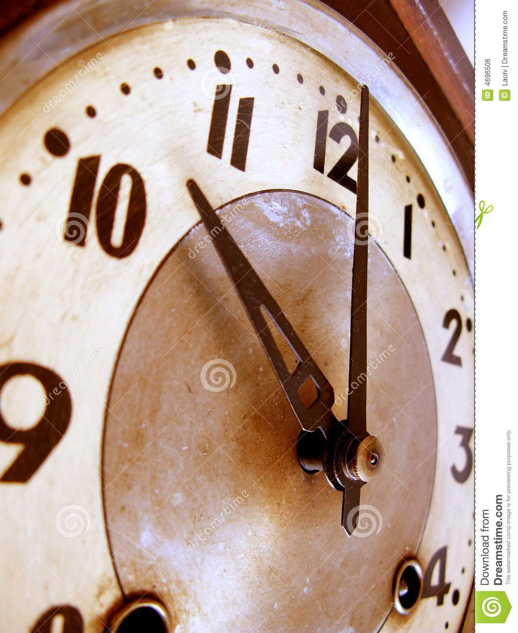 Old Fashioned Clock Royalty Free Stock Image Image 4696506
