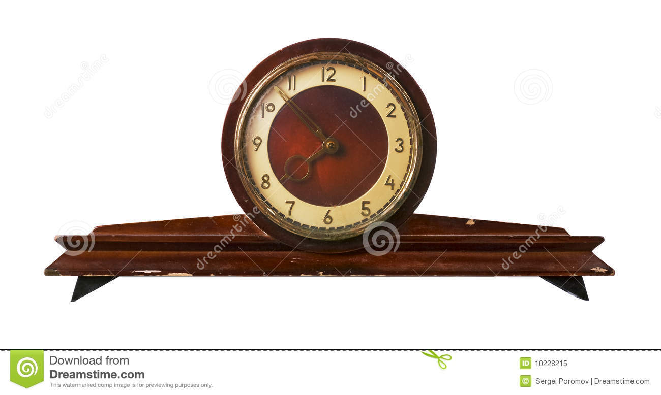 Old Fashioned Clock Made In Ussr Stock Image Image Of