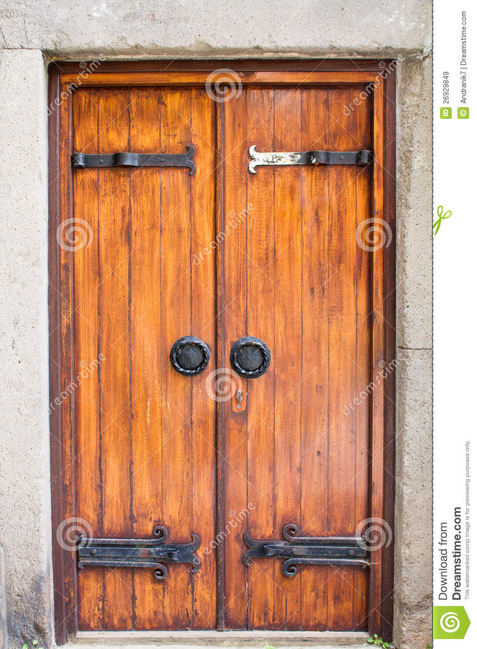 Old Fashioned Wooden Screen Doors ~ Old fashioned door royalty free stock image