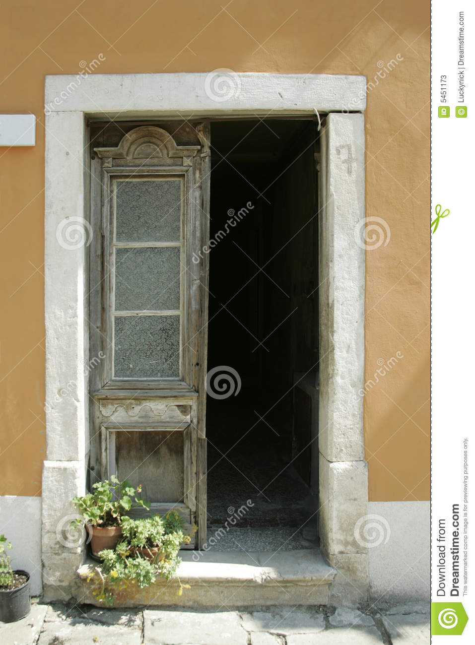 Old Fashioned Door Stock Image Image Of Shadow Flower