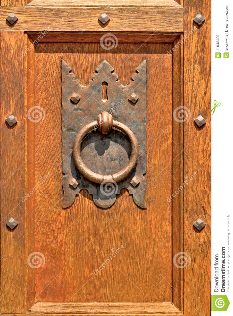 old fashioned door knocker royalty free stock images
