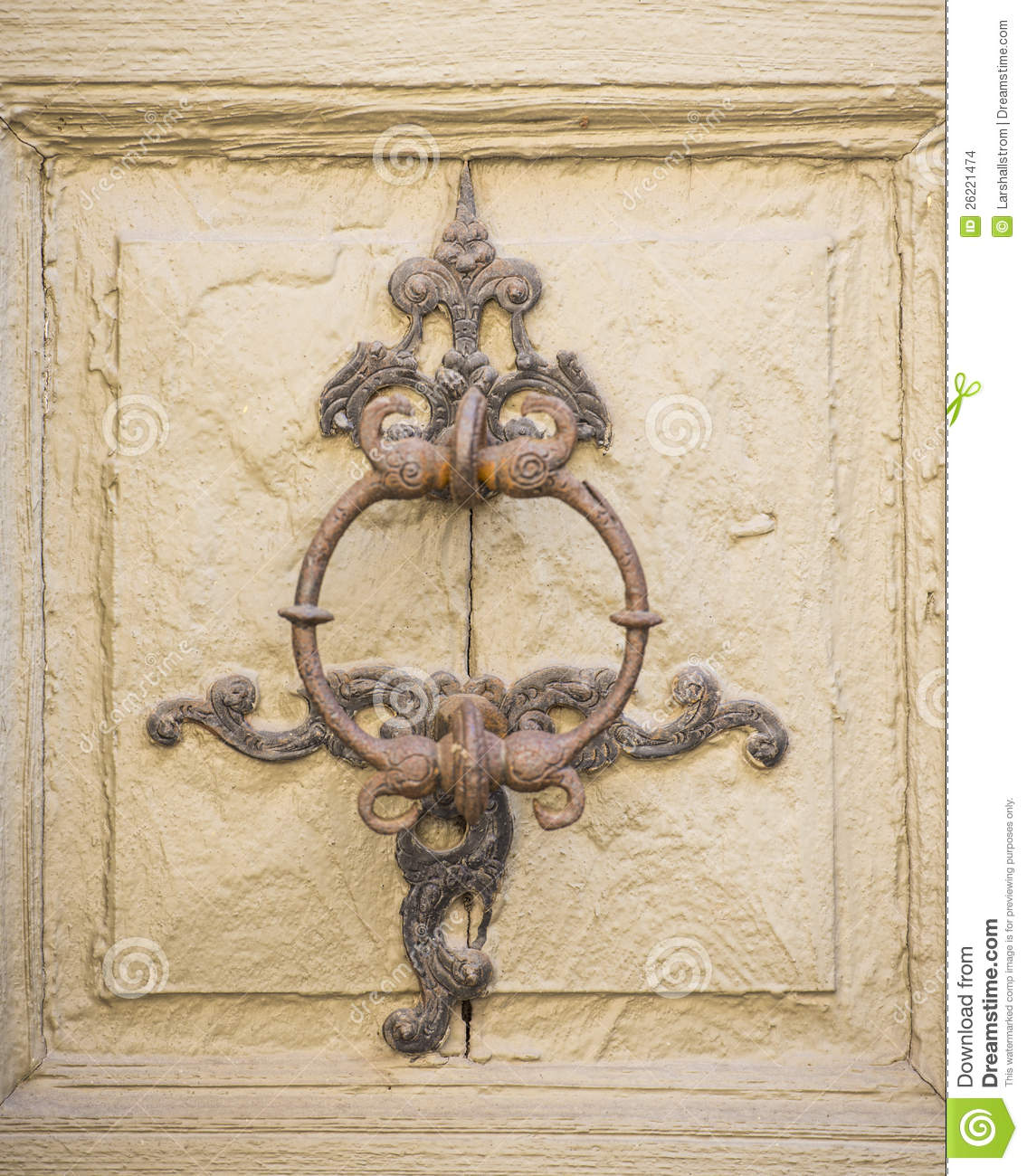 Old Fashioned Door Knocker Stock Images Image 26221474