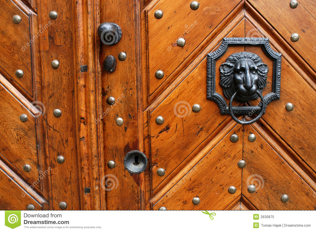 Old Fashioned Door Knocker Royalty Free Stock Photo