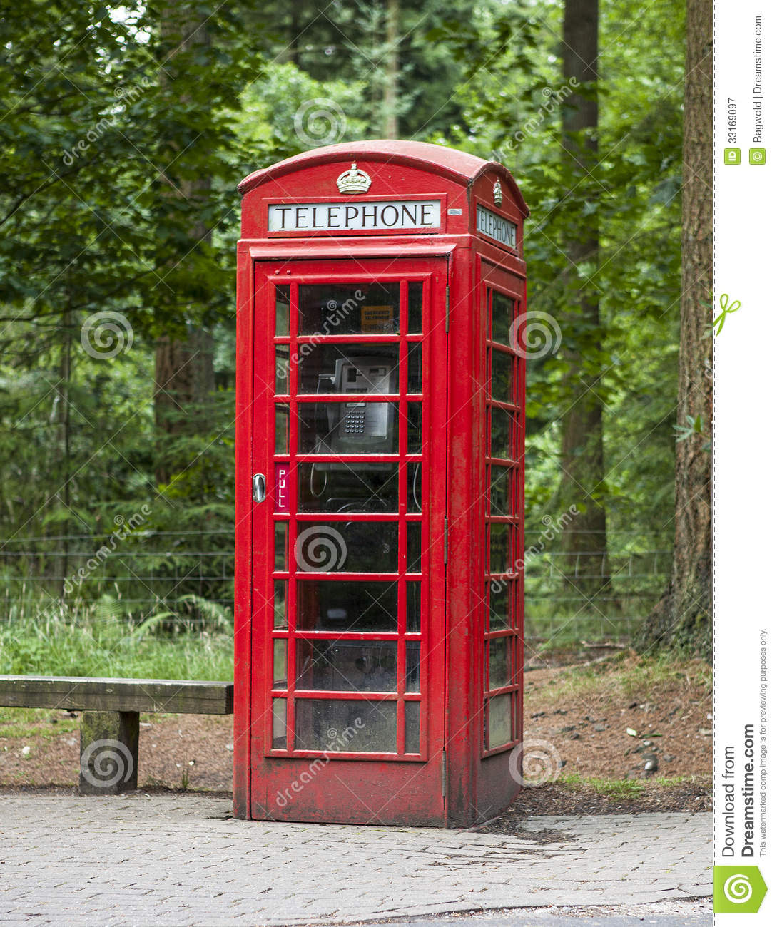 Old Fashioned Dusty And Weathered British Phone Box