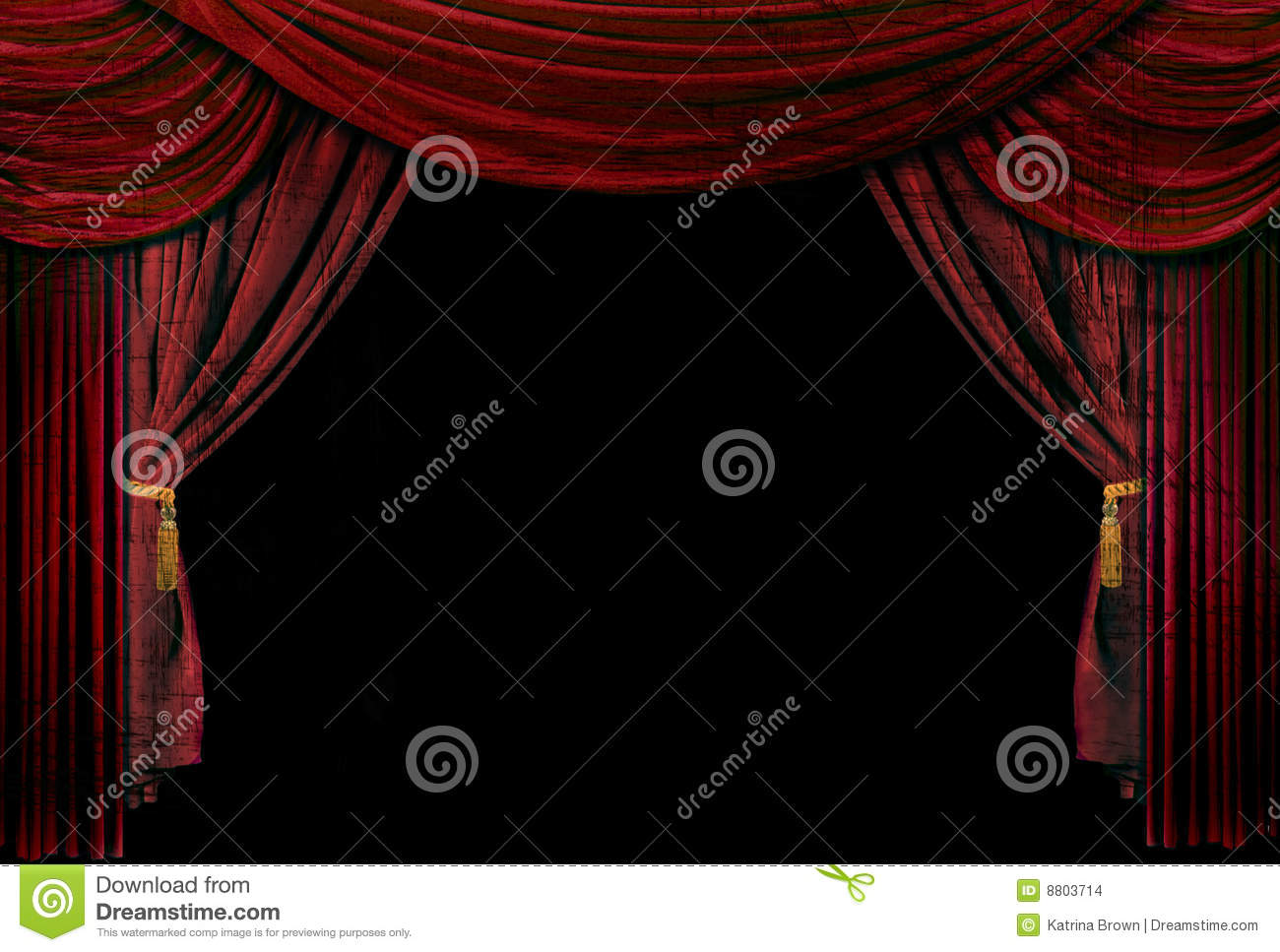 Old Fashioned Elegant Theater Stage Drapes Stock Images