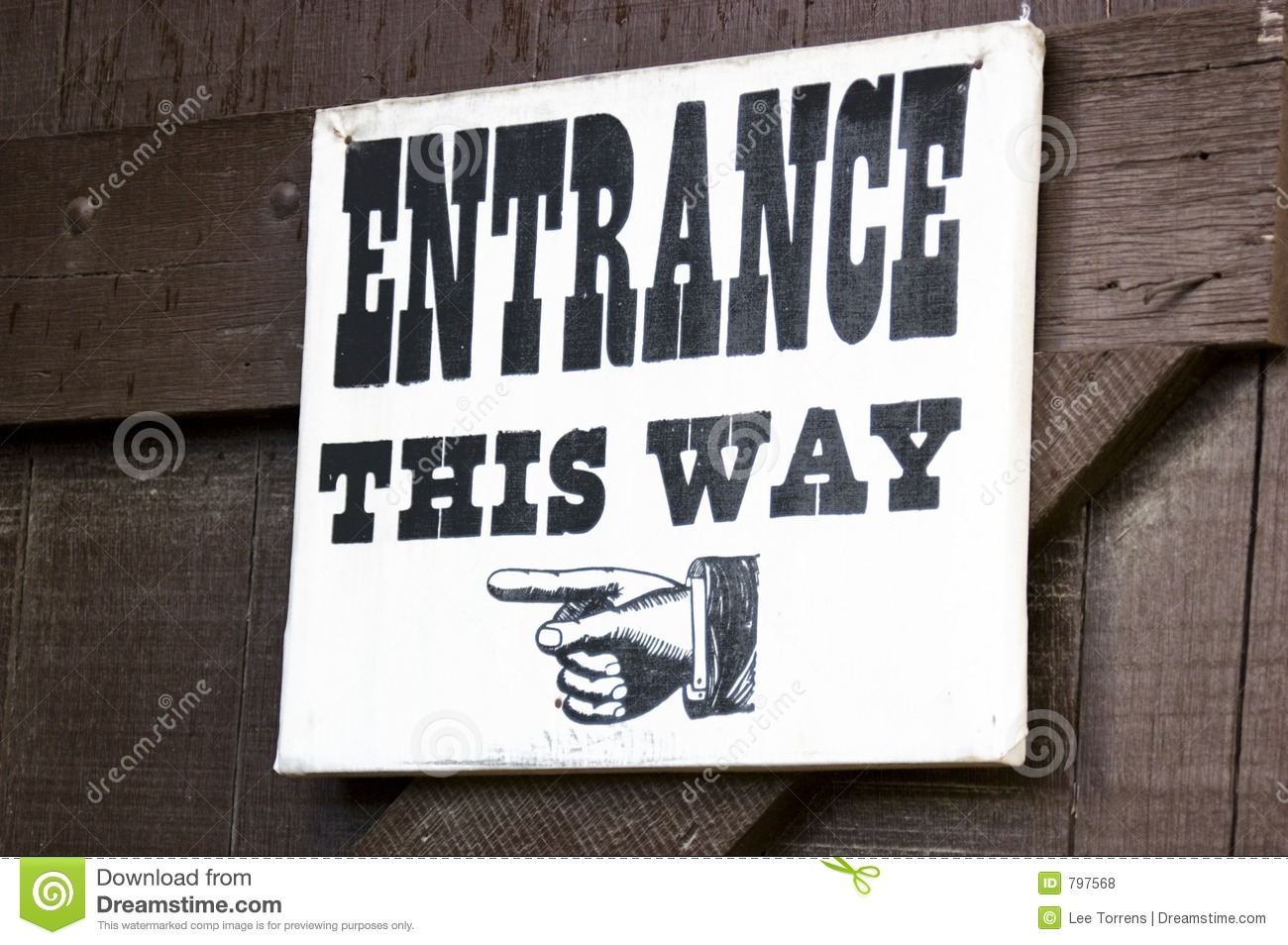 Old Fashioned Entrance Sign Stock Photo Image Of Finger