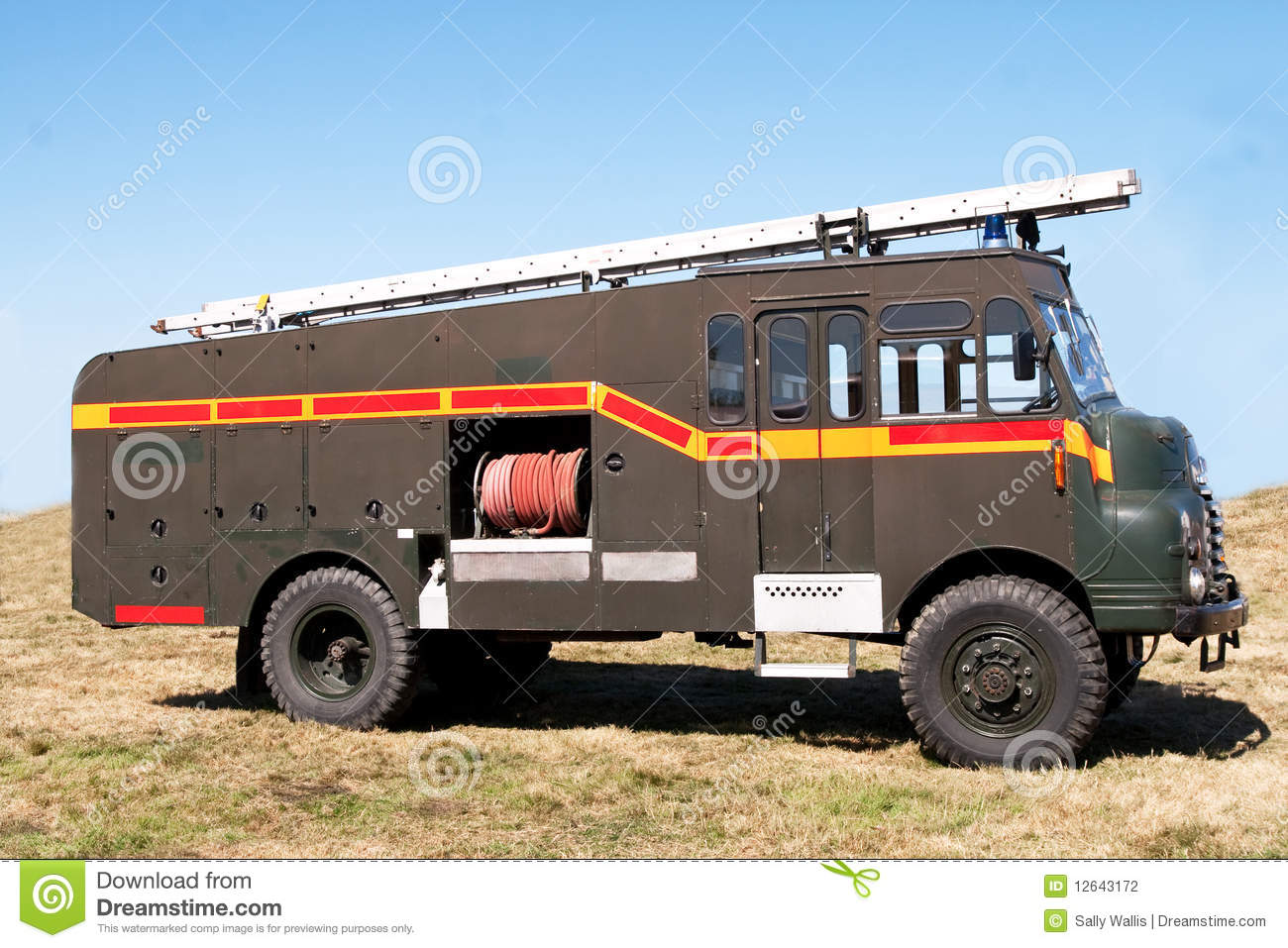 Old fashioned fire-truck stock photo. Image of elderly - 12643172