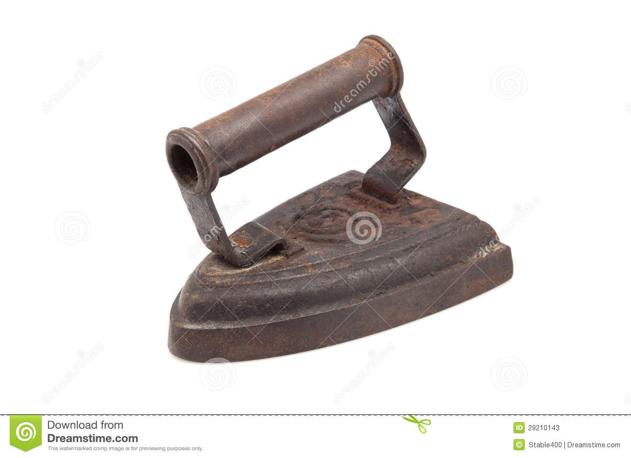 An Old Fashioned Flat Iron Stock Photos - Image: 29210143