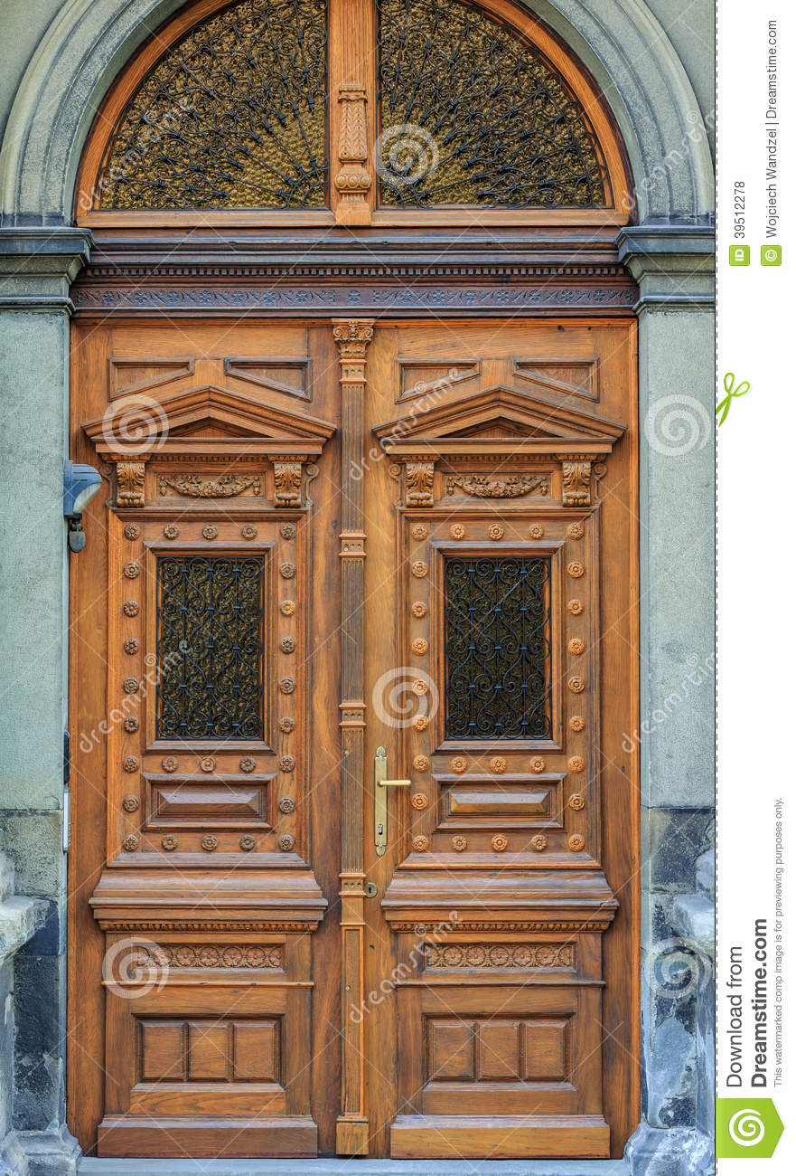 old fashioned front door entrance europe stock photo image