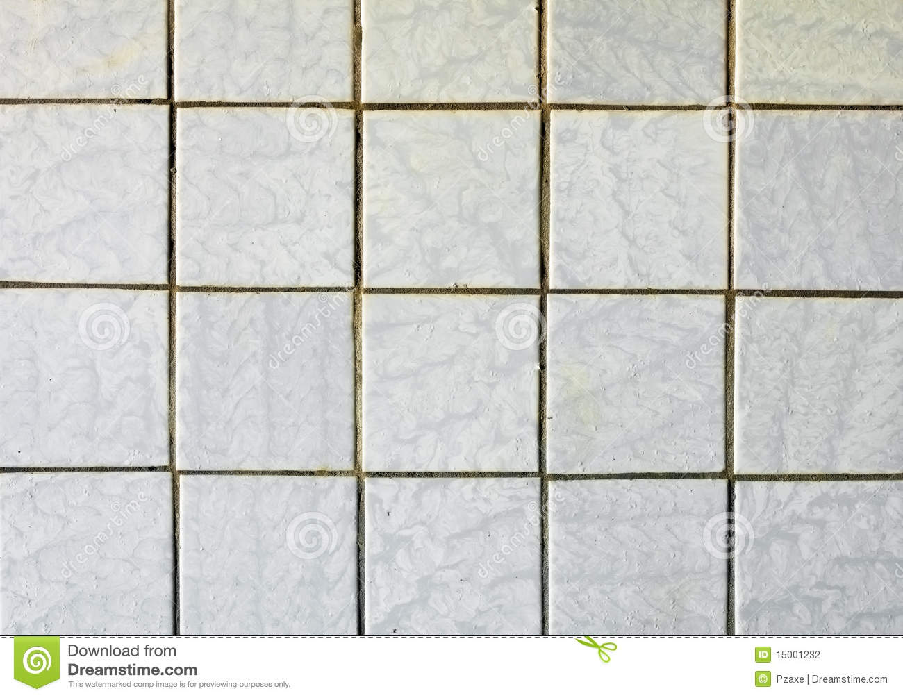 Old fashioned Gray Tiles On Old Wall Stock Photography