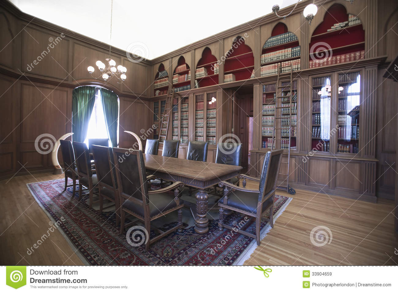 Royalty Free Stock Photo. Download Old Fashioned Home Library ...