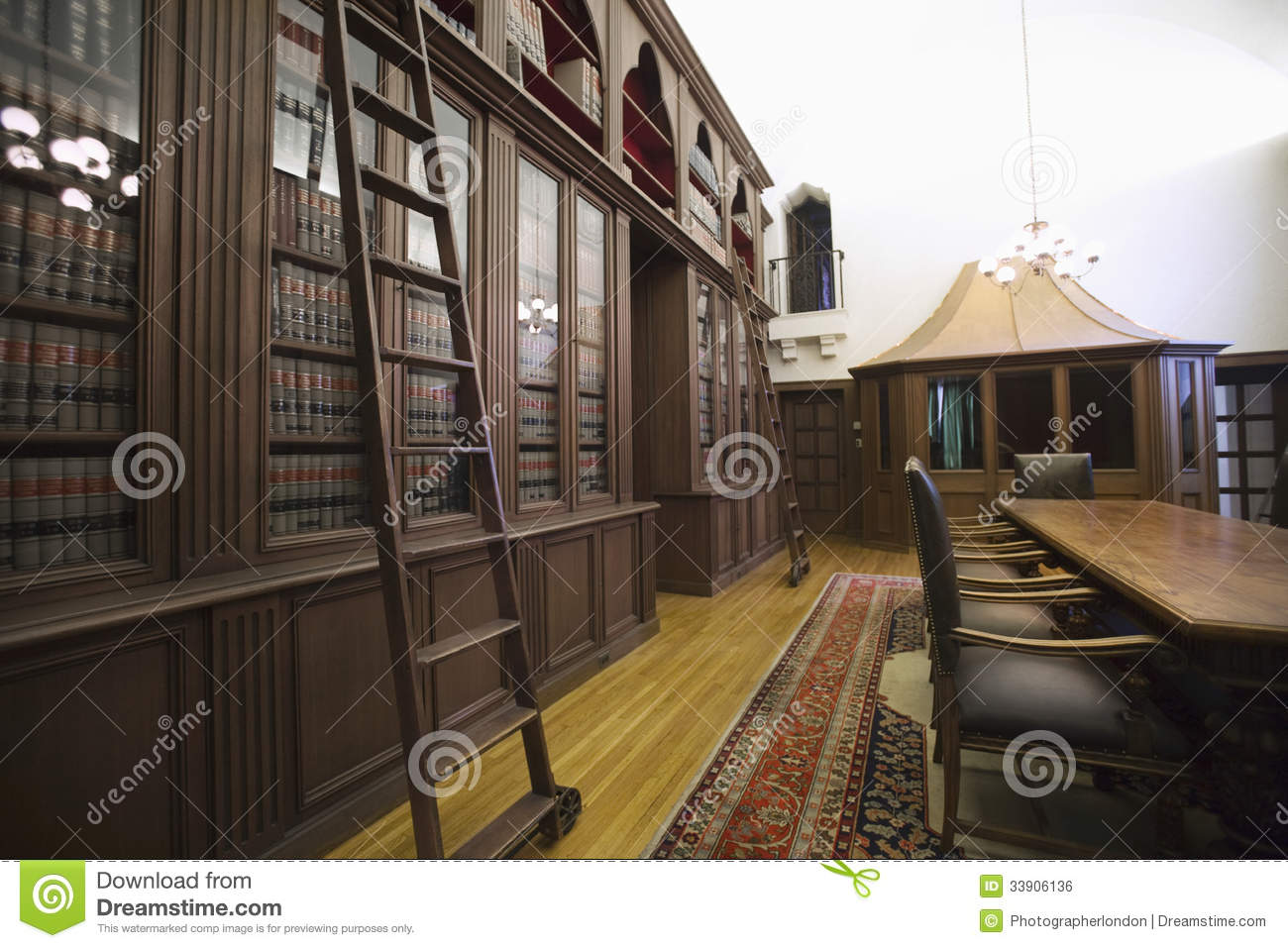 Old Fashioned Home Library Stock Photo Image Of Nobody