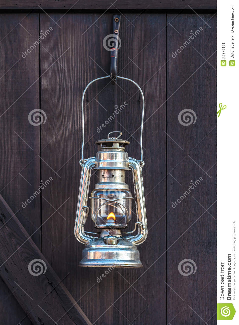 Old Fashioned Lantern On A Brown Wooden Wall Stock Image Image 29379191