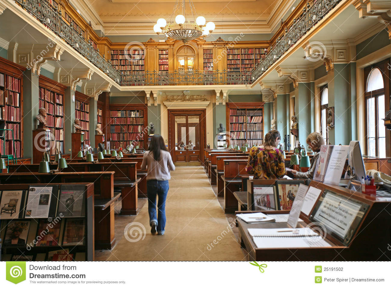 old fashioned library editorial photography